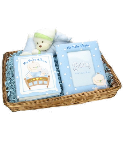 Cuddles and Memories Hamper - Baby Boy
