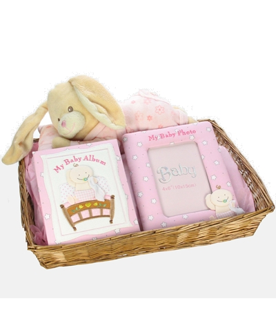Cuddles and Memories Baby Hamper for Girls