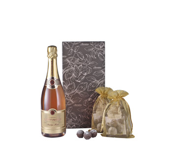 Rose Champagne and Truffles